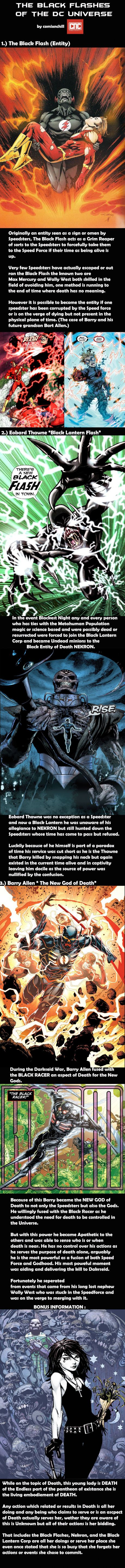Lets learn about the BLACK FLASHES, the Grim Reapers for the Speedsters of the DC Universe.