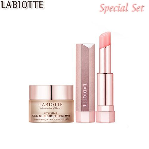 LABIOTTE Petal Affair Lip Care (Lip Sleeping Mask 15ml + Lip Glow Stick) $33