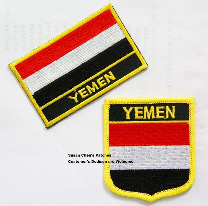 Yemen Flag patches embroidered flag patches national flag patches Free Shipping