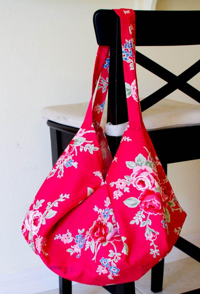 1 Yard Magic Hobo Bag from Lecien Fabrics! — SewCanShe | Free Daily Sewing Tutorials