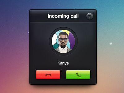 incoming-call: Ui Design, Brilliant Example, Make Money, Design Trends, Call 20, Skeuomorph Ui, 20 Brilliant, Flats Design, Income Call
