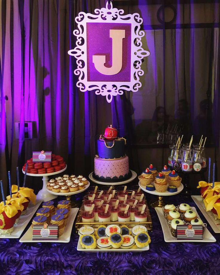 Disney's Descendants birthday party! See more party planning ideas at CatchMyParty.com!