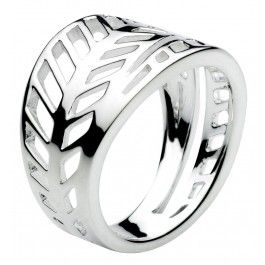 Applique Leaf Ring  - In sterling silver