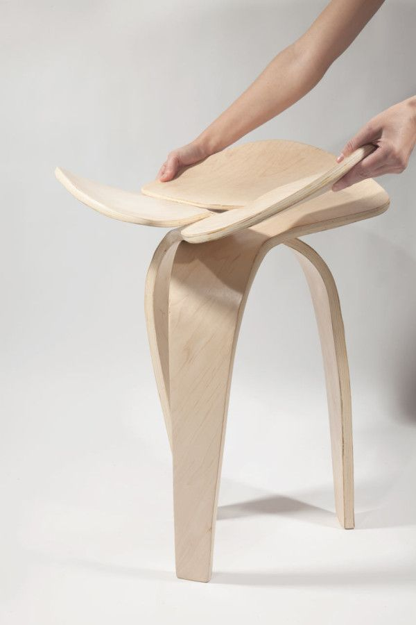 Trio: A Jointless Stool by Andrea Quiros-Balma