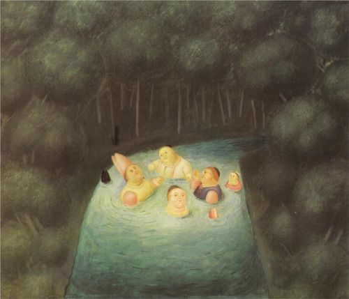 Bathing Bishops in a River, 1967 by Fernando Botero