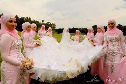 muslim bridesmaids on Pinterest | Muslim, Bridesmaid and Muslim Brides