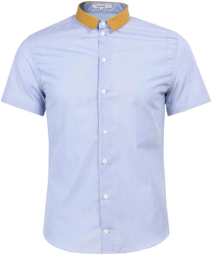 Contrast Collar Shirt | Carven