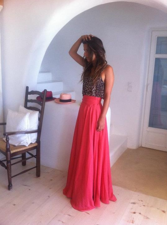 Customised Madame Shou Shou maxi skirt...made in Greece!