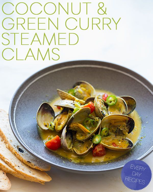 Coconut & Green Curry Steamed Clams from Spoon Fork Bacon
