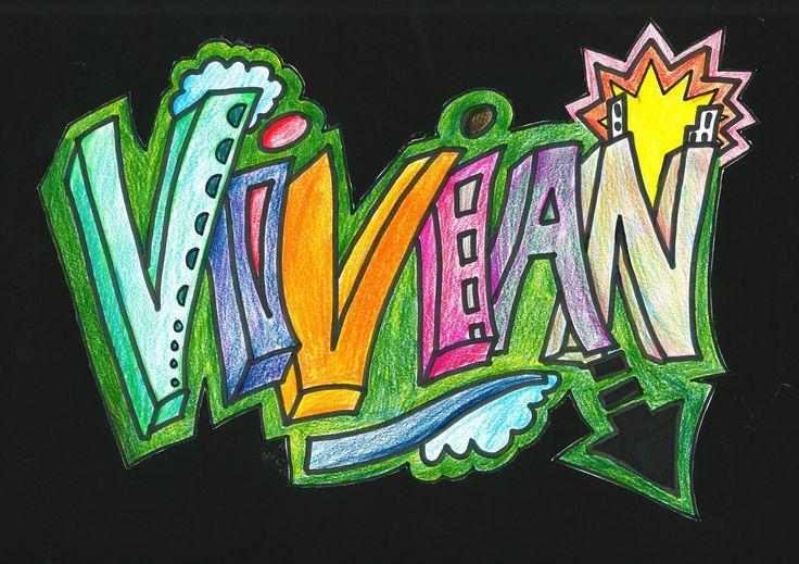 Картинки с именем вика прикольные граффити