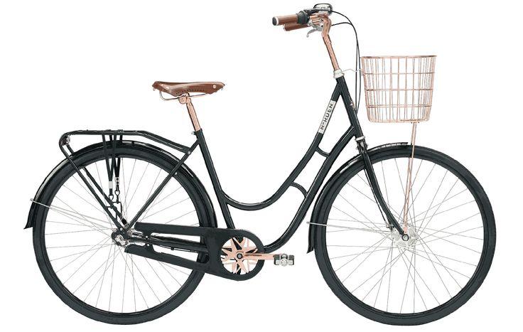 Eksklusiv retrocykel med 3 Shimano-gear. Kranken med NORDEN-stjernen er sammen med de flotte læderhåndtag samt sadlen i ægte koskind en designoplevelse.