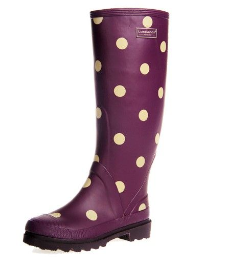 Purple Polka Dot Rain Boots!!!!!  US Size 5-9 New 35cm Height Rubber Slip On Rain Boots Shoes 4 Colors | eBay.        I NEED THESE!
