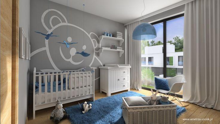 Aranżacja pokoju niemowlęcego w odcieniach szarości. Jak urządzić pokój dla niemowlaka - projekty. Pokój niemowlaka w odcieniach błękitu – inspiracje.