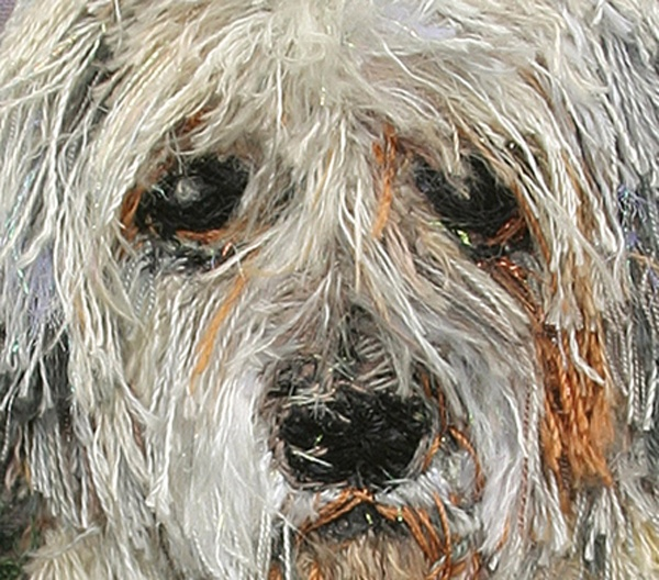 Dog portrait made with thread!