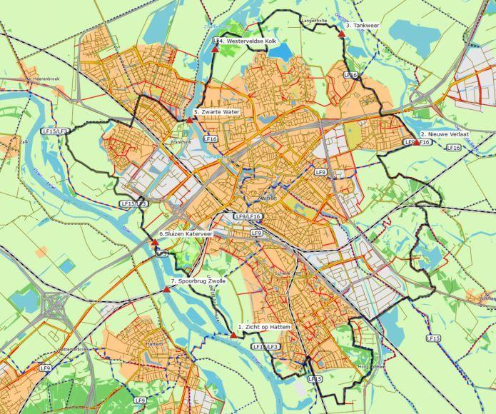 Rondje Zwolle (40km) # Een unieke fietsroute door de prachtige omgeving van Hanzestad Zwolle. De route voert o.a. langs IJssel, Vecht en Zwarte Water. Behalve dat u deze mooie tocht als gpx-bestand kunt downloaden, is hij ook bewegwijzerd. Dus voor ieder wat wils!