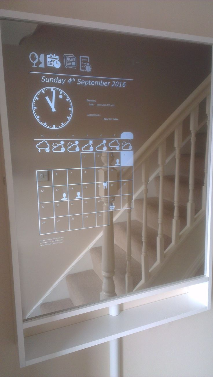 Magic Mirror / Hallway Dashboard (Full Build) - Album on Imgur