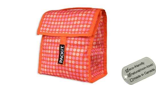 Packit Lunch Coolers - orange dots