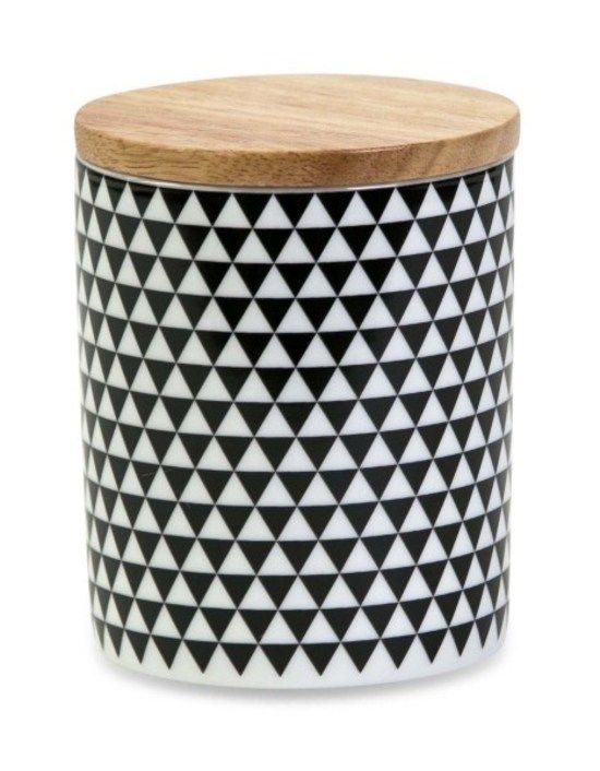 Black & White canister tall