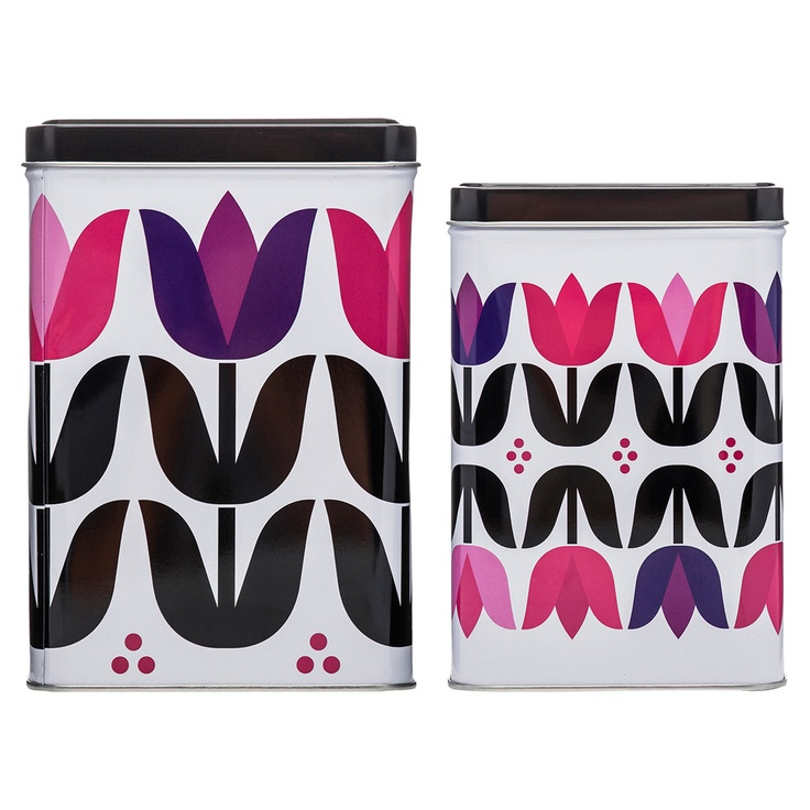 Tulip Storage Tin Square 2 Pack
