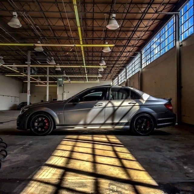 """Light and shadow create the perfect backdrop for this C 63 AMG """"Edition 507"""". Photo shot by @_lakeshow_   [C 63 AMG Edition 507 