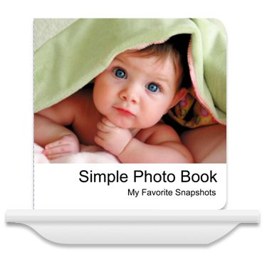 Create your own board book! Use pictures of mom, dad, your dog, etc., to help baby learn first words!