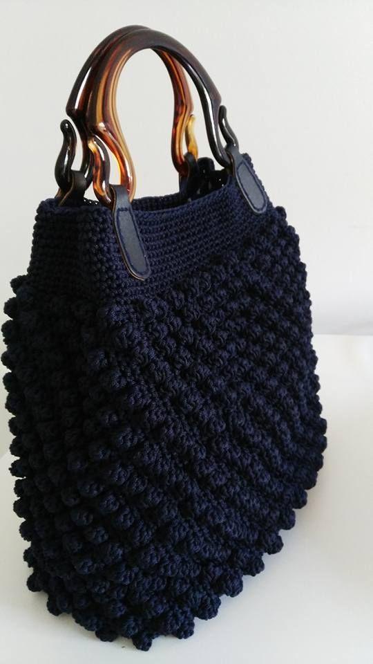 Stylish crochet bag More Clothing, Shoes & Jewelry : Women : handbags and purses for women amzn.to/2j9CmhZ - Crocheting Journal