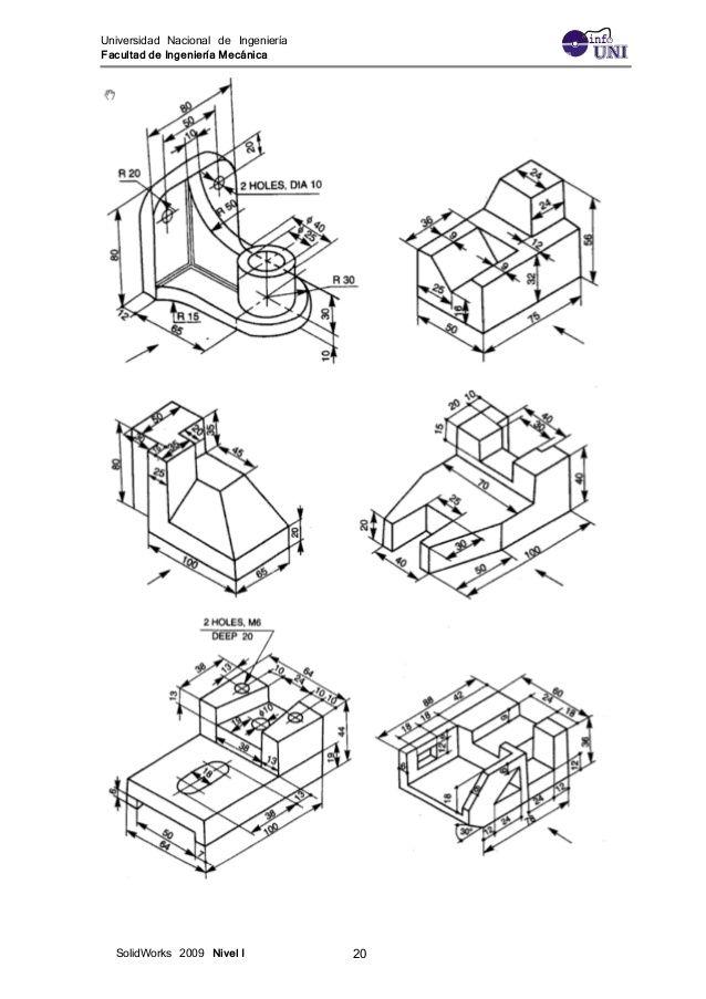 Ejercicios Solidwork 1 Geometric Drawing Technical Drawing Isometric Drawing
