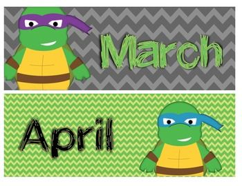 Classroom Theme Bundle: Turtle Ninja (Classroom Decor)