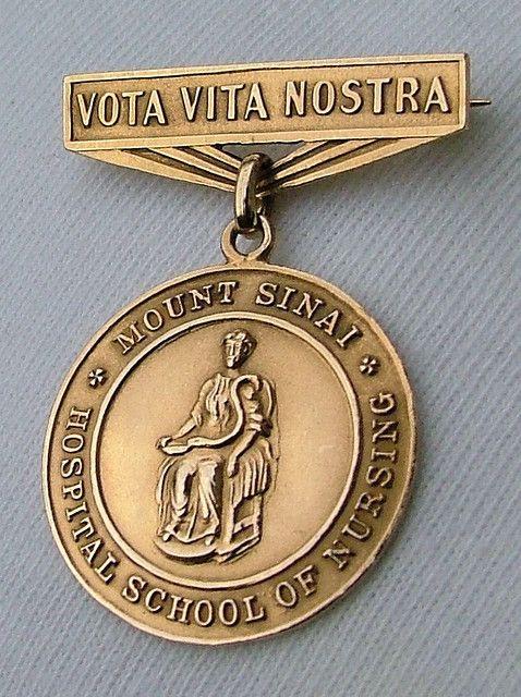 Mount Sinai School of Nursing Graduation Pin 1929