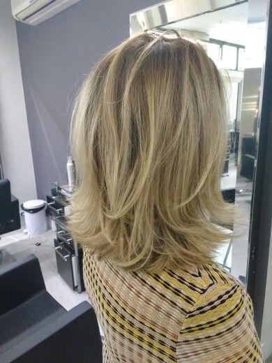 geschichteten Haarschnitt – #geschichteten #Haarschnitt #halblang