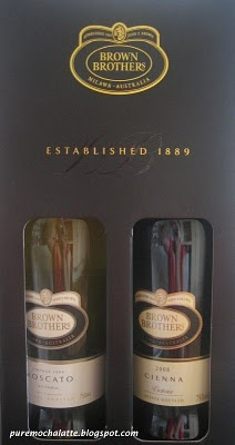 Brown Brothers Cienna and Moscato