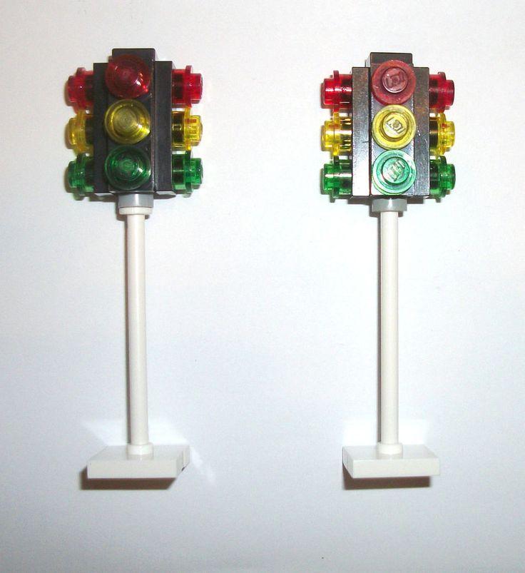 > > > $13.50 < < <  #EBAY #LEGOCITY #TRAINSET #LEGOS #LEGOTOWN #LIONEL LEGO City Town Traffic Lights 4 MOC 10184 10243 10232 10182 60097 4207 8404 7744 #LEGO