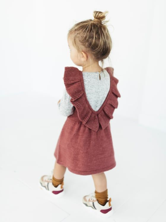 RUFFLED PINAFORE DRESS - View All-KNITWEAR-BABY GIRL  ece8d6078b939