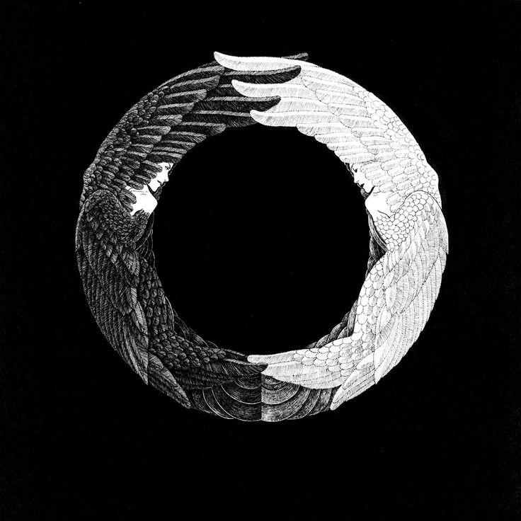 O is for Odette and Odile アルファベットシリーズ O (オデットとオディール・バレエ「白鳥の湖」) #イラストレーション #イラスト #アルファベット #illustration #illust #alphabet #モノクロ #Odette #Odile #Swan Lake