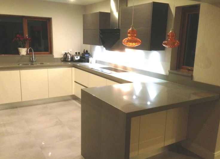 Modern handleless gola kitchen...by Newhaven Kitchens, Carlow