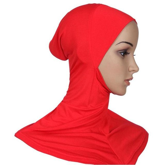 Teayang Hijab Headwear Full Cover Underscarf Ninja Inner Neck Chest Plain Hat Cap Scarf Bonnet 21 Colors F78