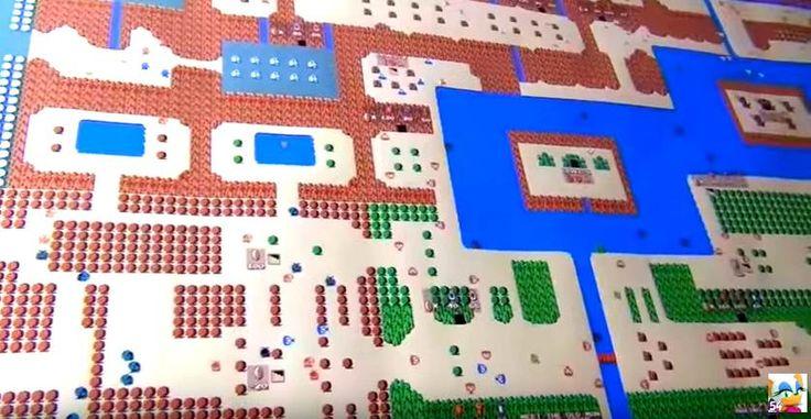 Carte géante de #Zelda (#nintendo, #fanart, #jeuxvideo, #retrogaming, #jeuxvideojap)  http://sushimanleninja.com/carte-geante-de-zelda/