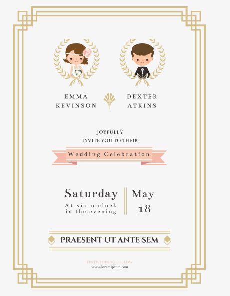 The bride and groom wedding invitation vector png and vector blue the bride and groom wedding invitation vector png and vector blue pinterest wedding unique stopboris Gallery