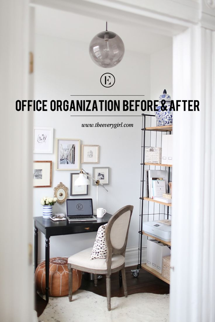 organize home office deco. Organizing A Home Office Before \u0026 After Organize Deco