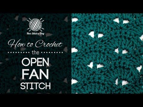 How to Crochet the Open Fan Stitch. This video has been extremely helpful.