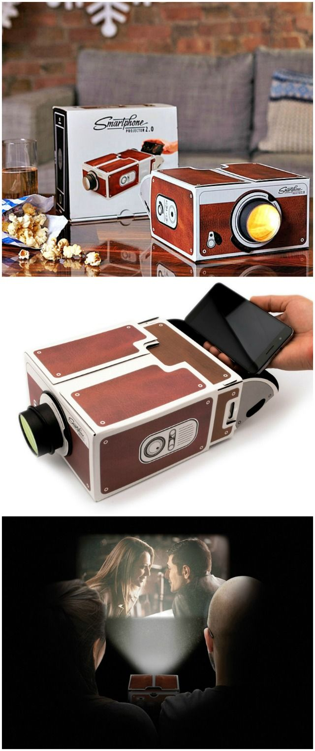 Kick back on a sofa with some whiskey and pop the Smartphone Projector on to enjoy some Super 8 inspired film or a Hollywood classic on your phone.