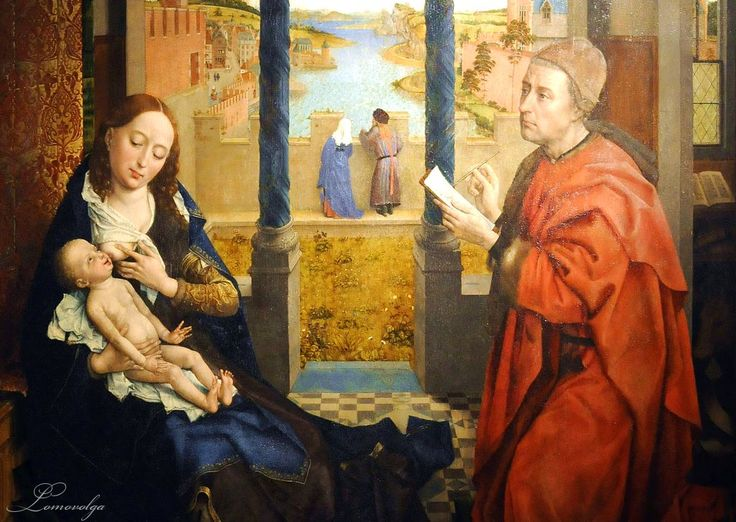 st luke and the virgin comparison While applying his brush and paints, st luke listened carefully as the mother of  jesus  there is a rite entitled, the rite for crowning an image of the blessed  virgin mary  the roman image and the ingoldstadt image can be compared  here.