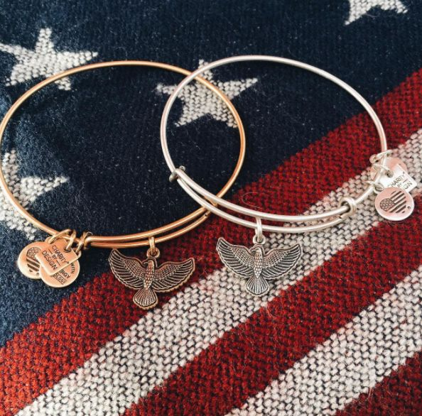 As seen on The Today Show! We are proud to support Team Red, White & Blue! #SpiritOfTheEagle | ALEX AND ANI CHARITY BY DESIGN Spirit Of The Eagle Charm bangle