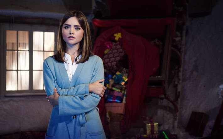 Download wallpapers Clara Oswald, TV series, Doctor Who, Jenna Coleman
