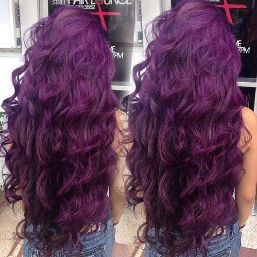Purple plum hair