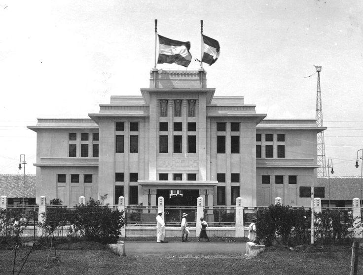 Fine art deco building in Bandung Jaarbeursgebouw built around 1910 by Wolff Schoemaker