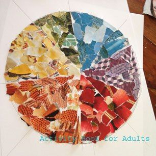 finished colour wheel