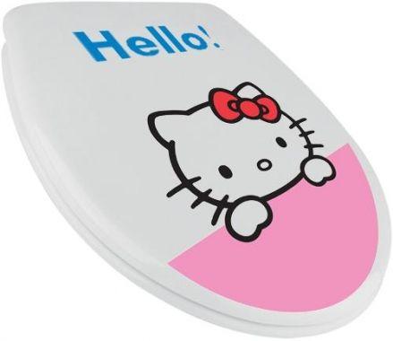 Abattant wc HELLO KITTY HELLO! | Accessoires Hello Kitty et Salle de bain