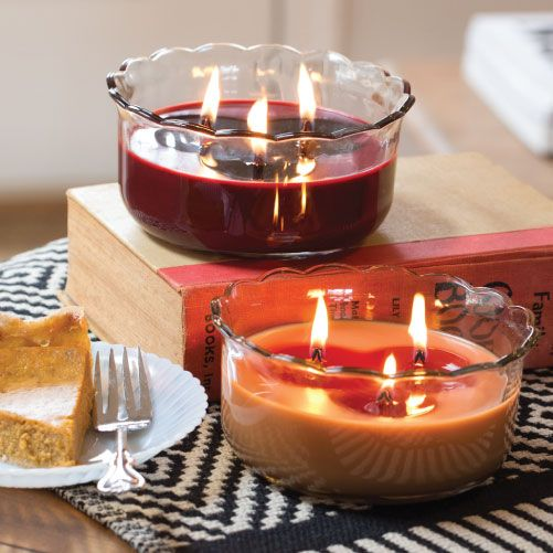 Bougies parfumes a croquer avec la gamme macaron et pie WoodWick