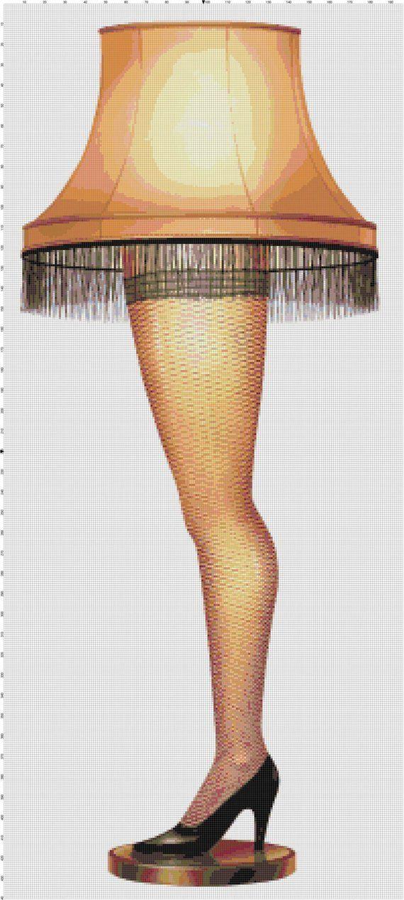 A Christmas Story Leg Lamp Handmade PDF Cross-Stitch Pattern
